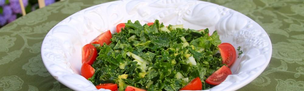 paleo kale avocado salad