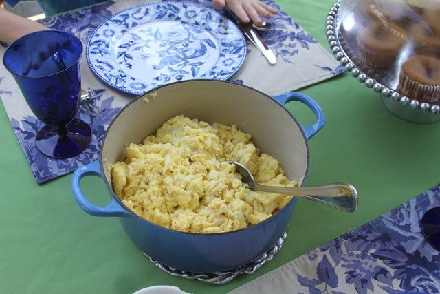 paleo scrambled ostrich egg