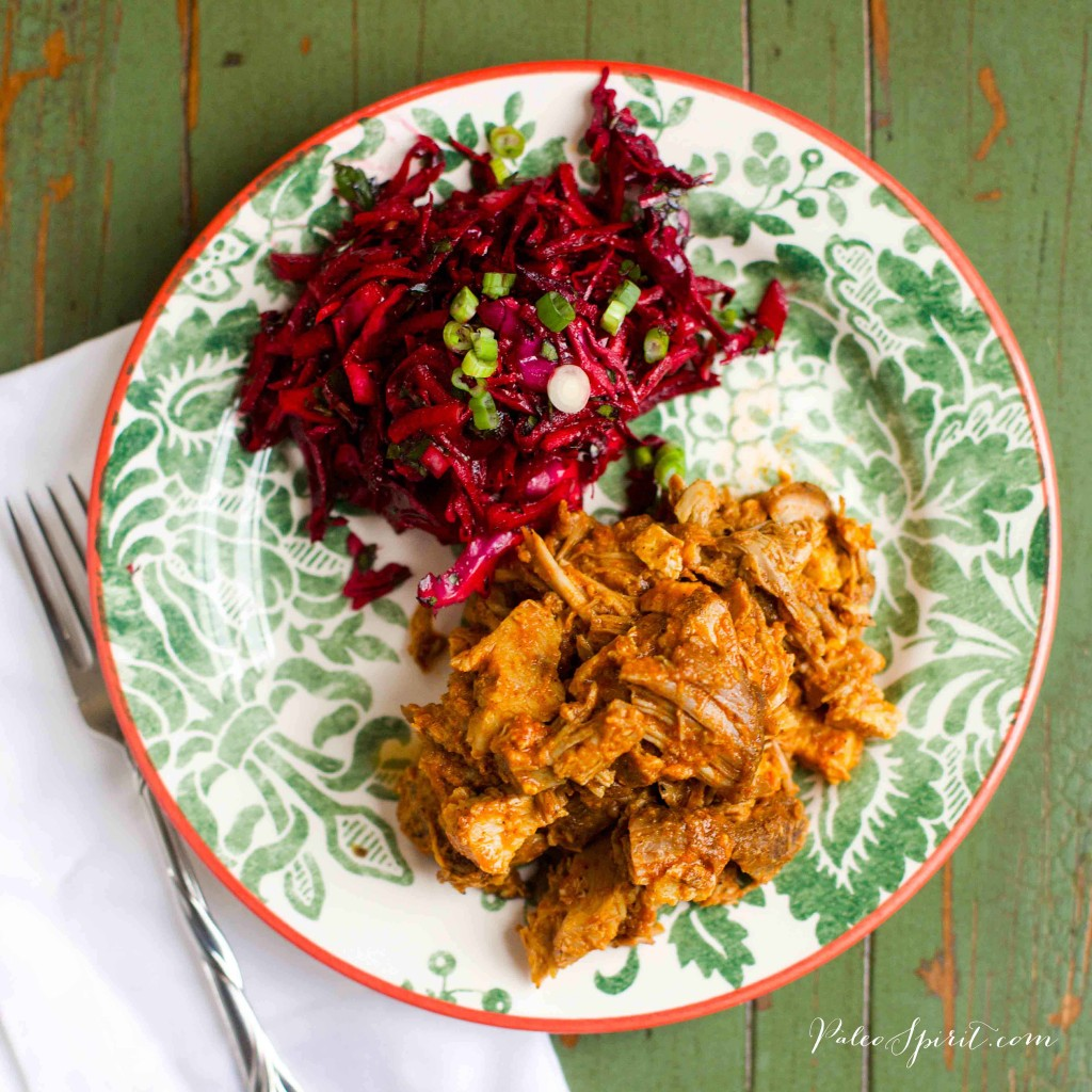 Paleo Carolina Pulled Pork and Beet Slaw | Paleo Spirit #paleo