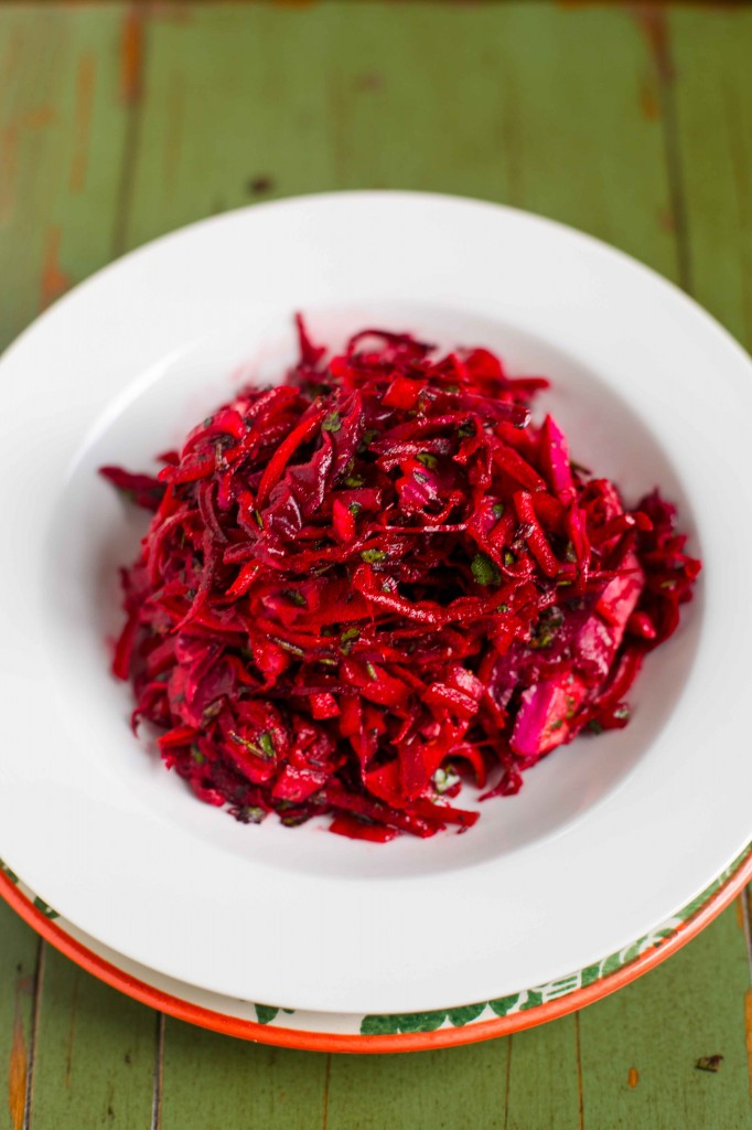 Paleo Raw Beet and Cabbage Slaw Recipe
