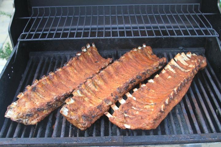 paleo pork ribs on the grill