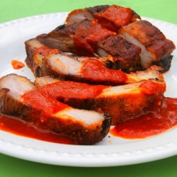 paleo barbecue pork ribs with sauce