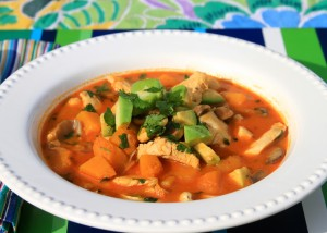 Thai Curry with Squash and Avocado