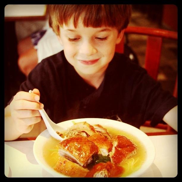 SP eats duck soup