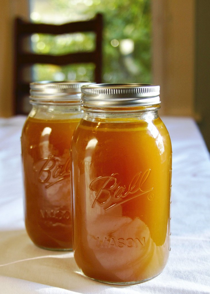 ball jars homemade chicken stock