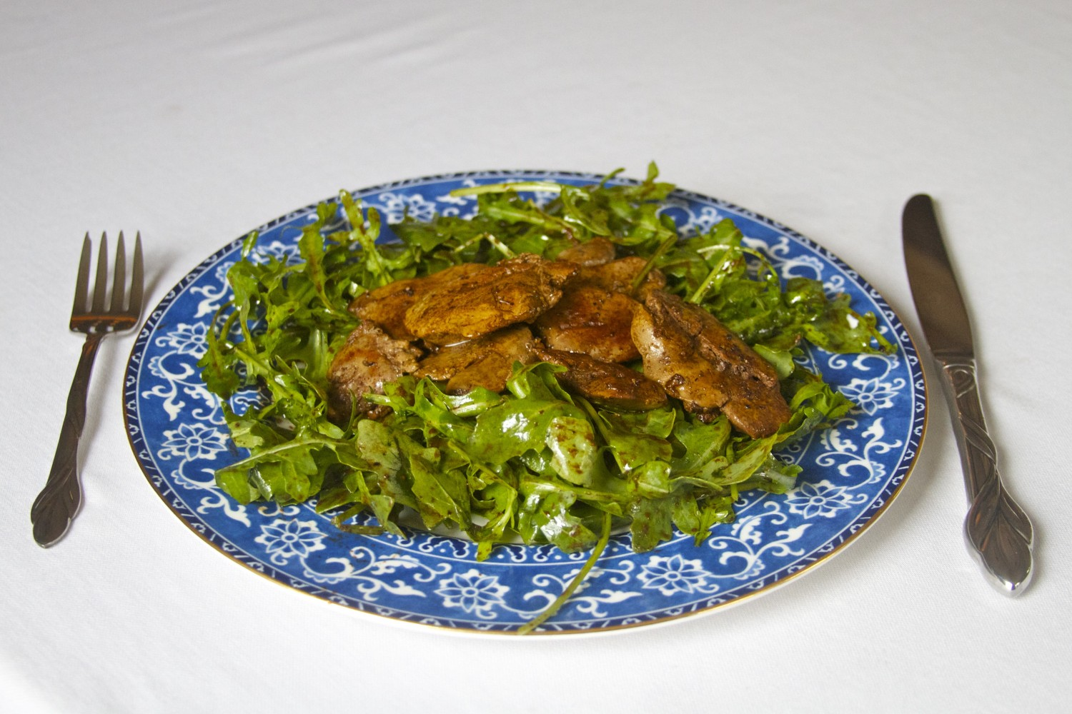 Chicken liver salad