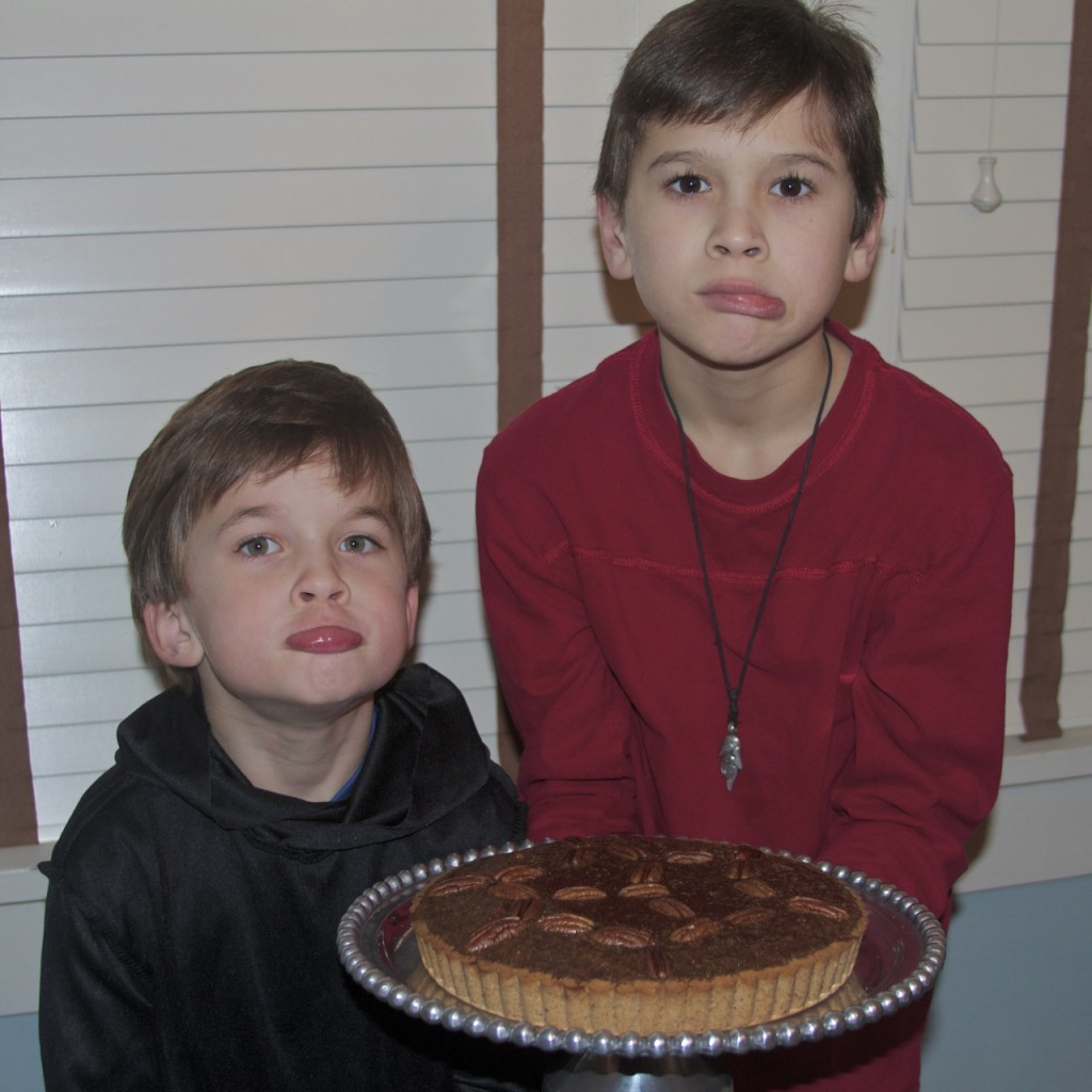 boys are angry they can't eat paleo pecan pie