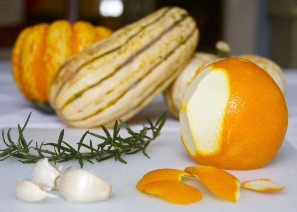 orange garlic rosemary