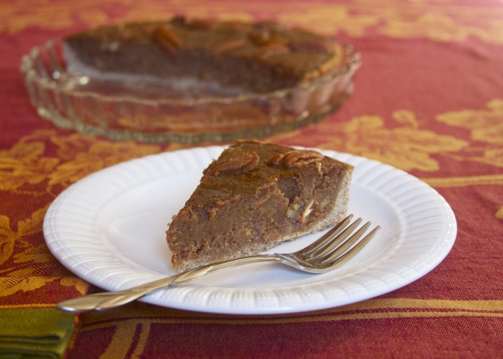 piece of paleo pecan pie tart
