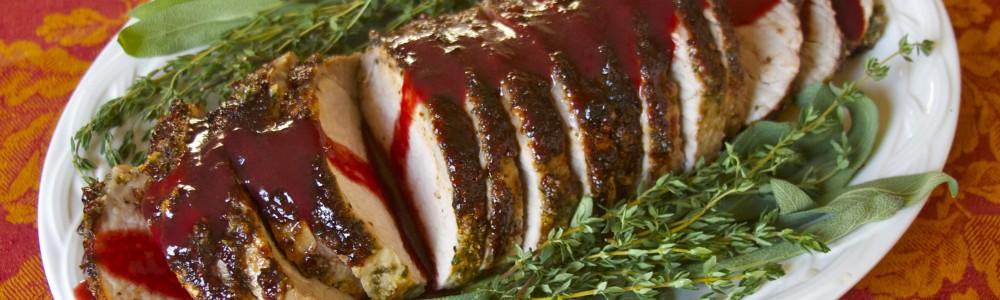 Garlic And Herb Crusted Pork Loin