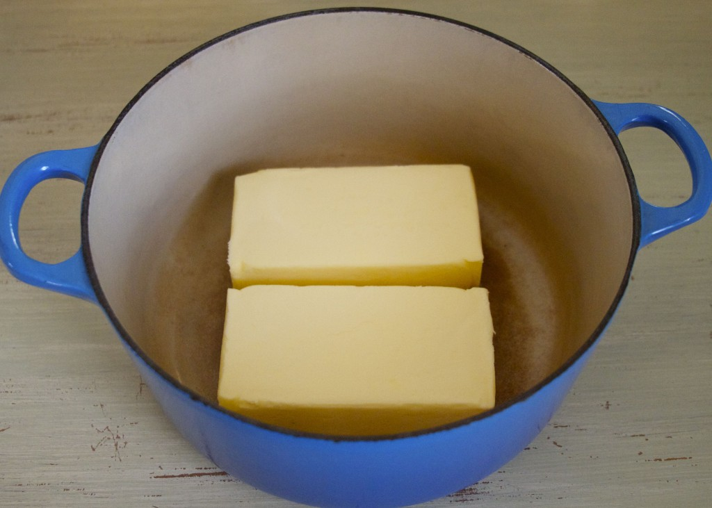 pasture butter in pan