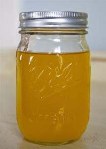 ghee in a ball mason jar