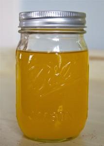 ghee in a ball mason jar