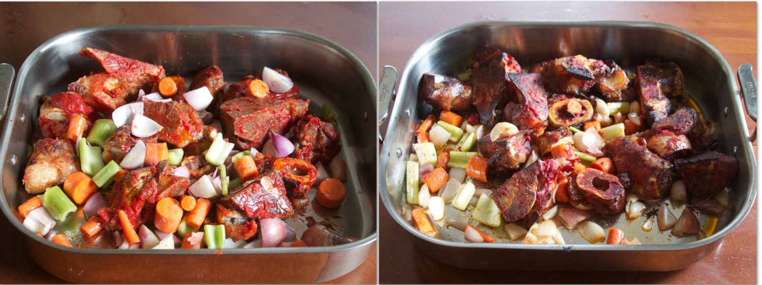 """How to Make """"Brown"""" Beef Bone Stock"""