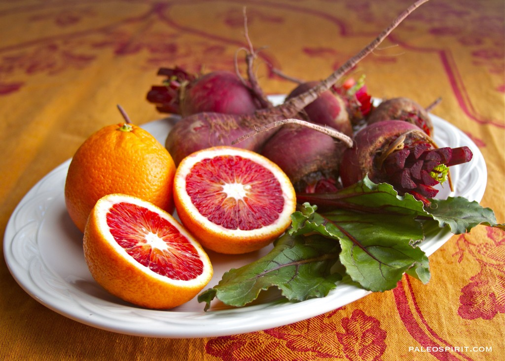 beets and blood oranges