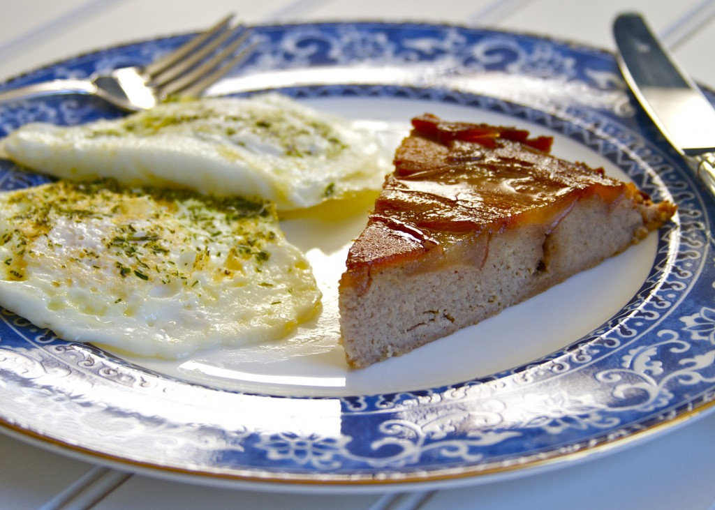 flaugnarde slice with eggs