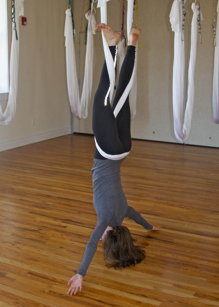 antigravity yoga inversion