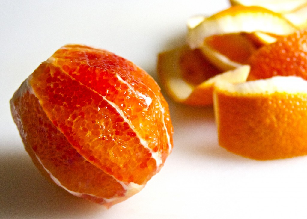 peeled blood orange