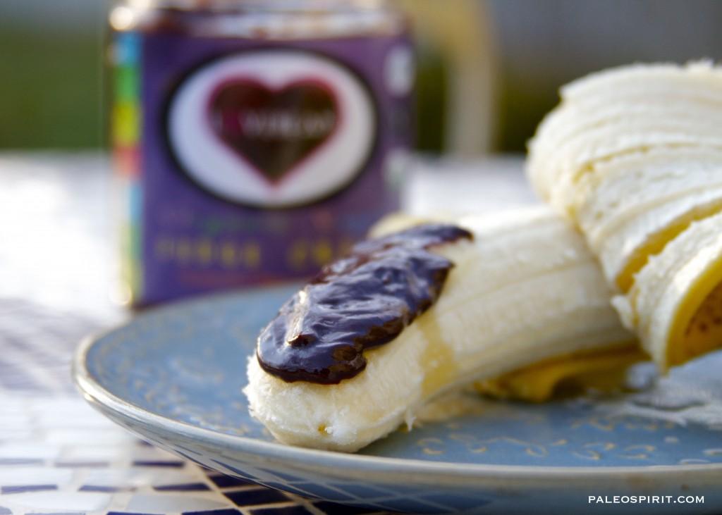 lovebean fudge on a banana