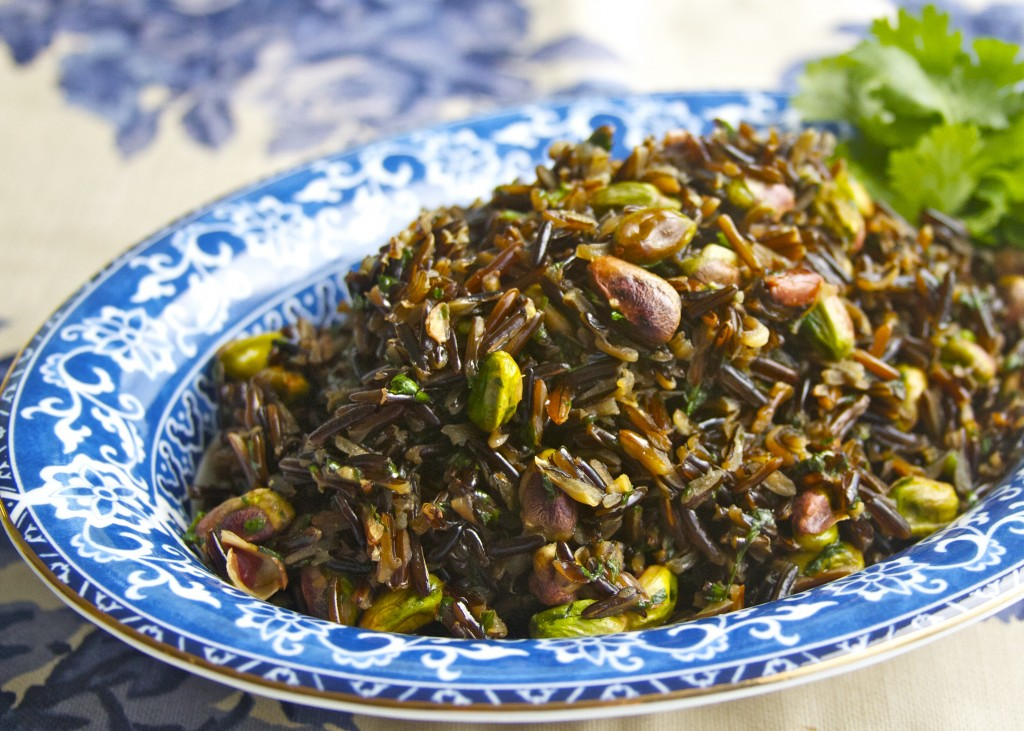 Wild Rice with Pistachios and Cilantro paleo