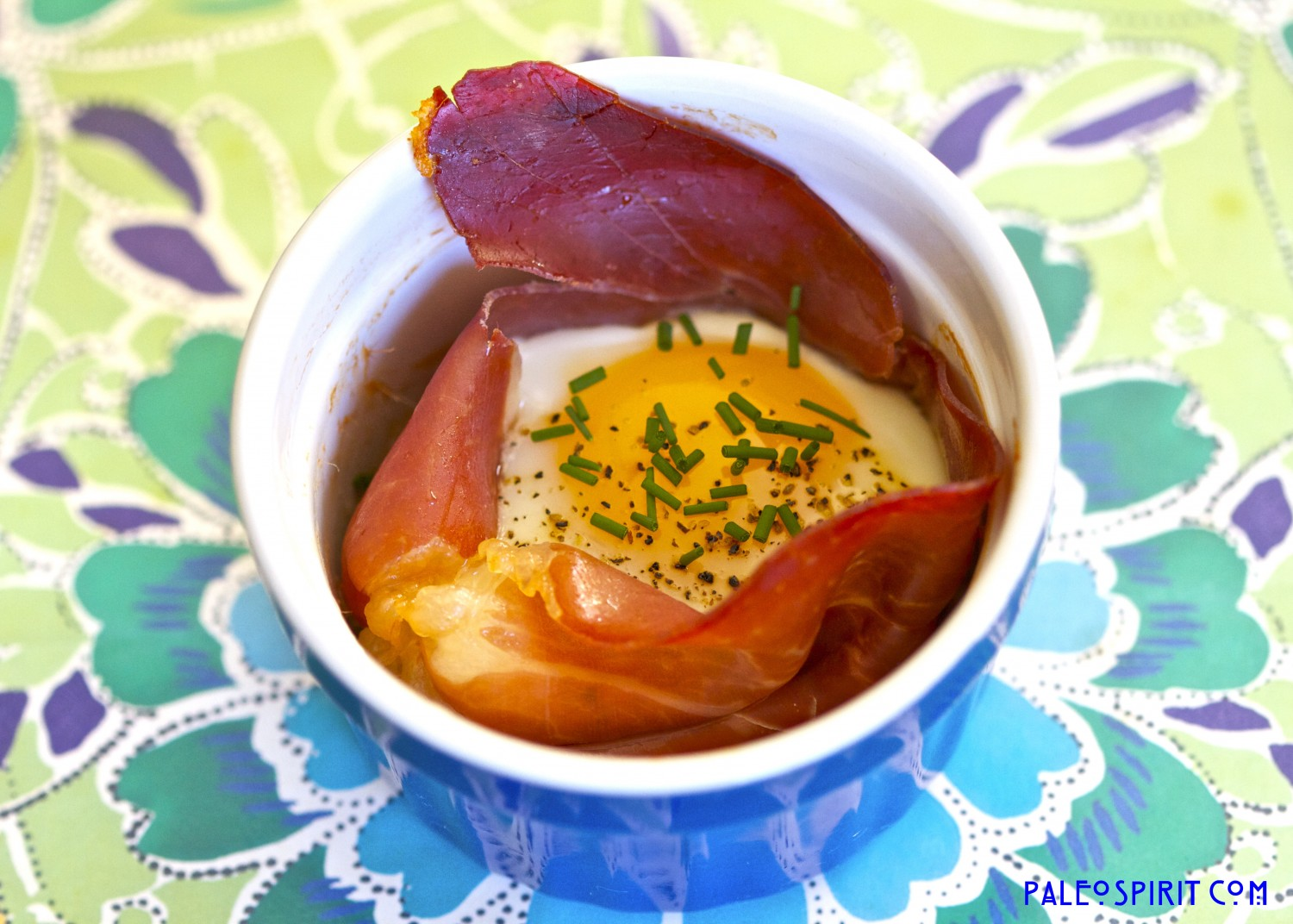 Baked Eggs in Prosciutto Cups