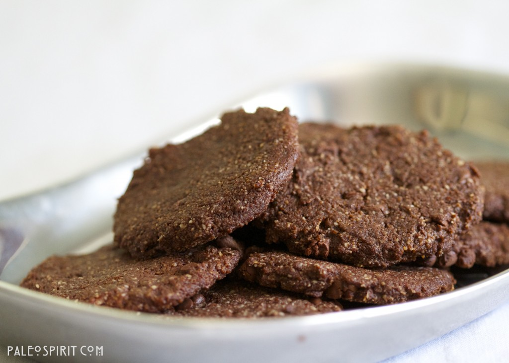 Paleo Mocha Chocolate Chip Cookies (Gluten-free and Vegan)