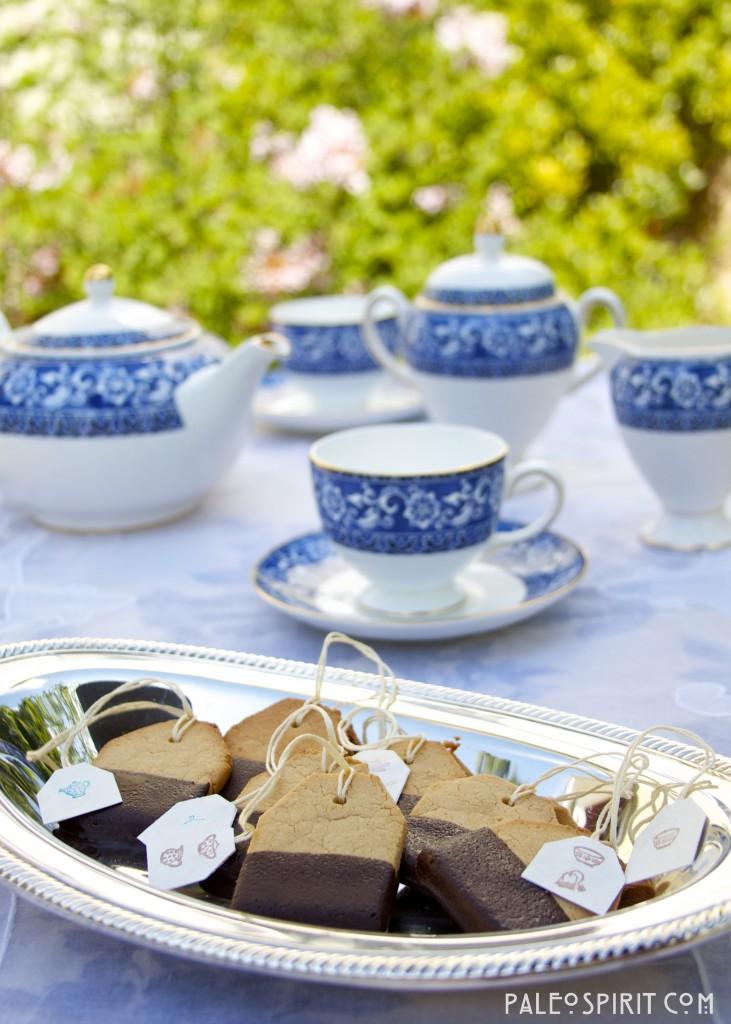 Paleo Shortbread Tea Bag Cookies