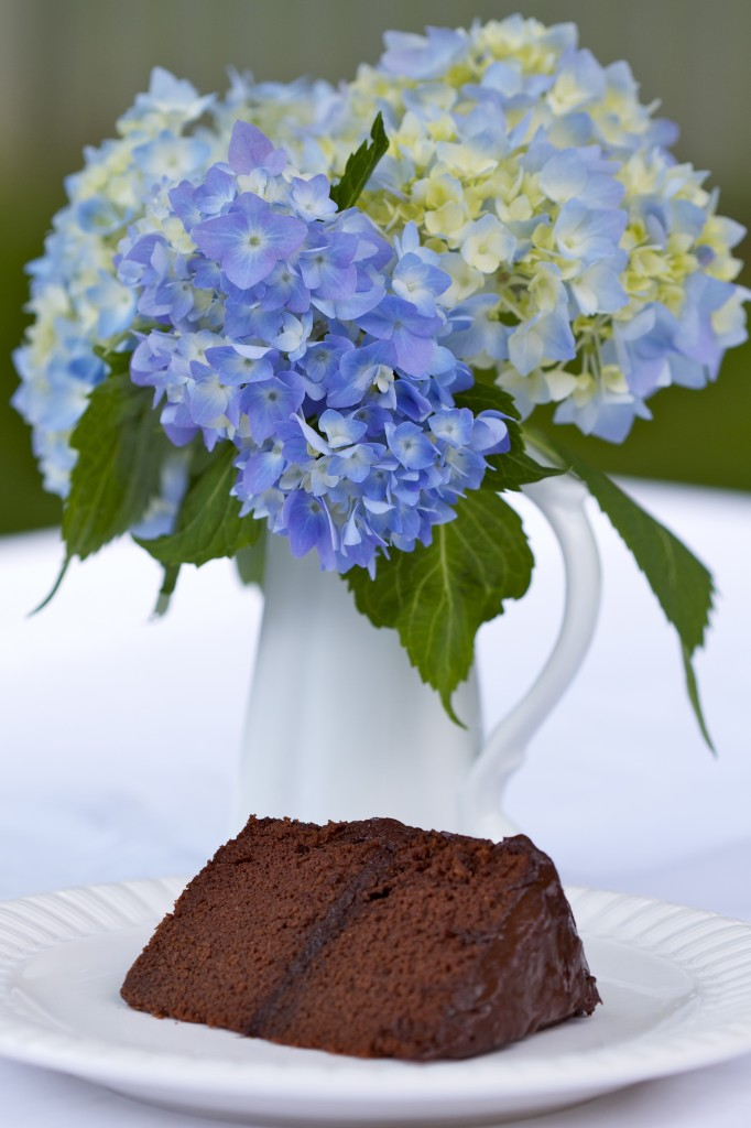 slice of paleo chocolate birthday cake