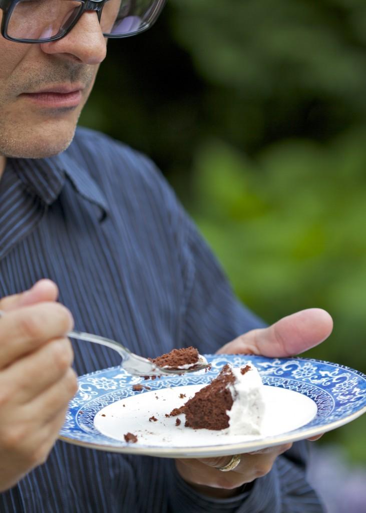 Eating paleo chocolate cake