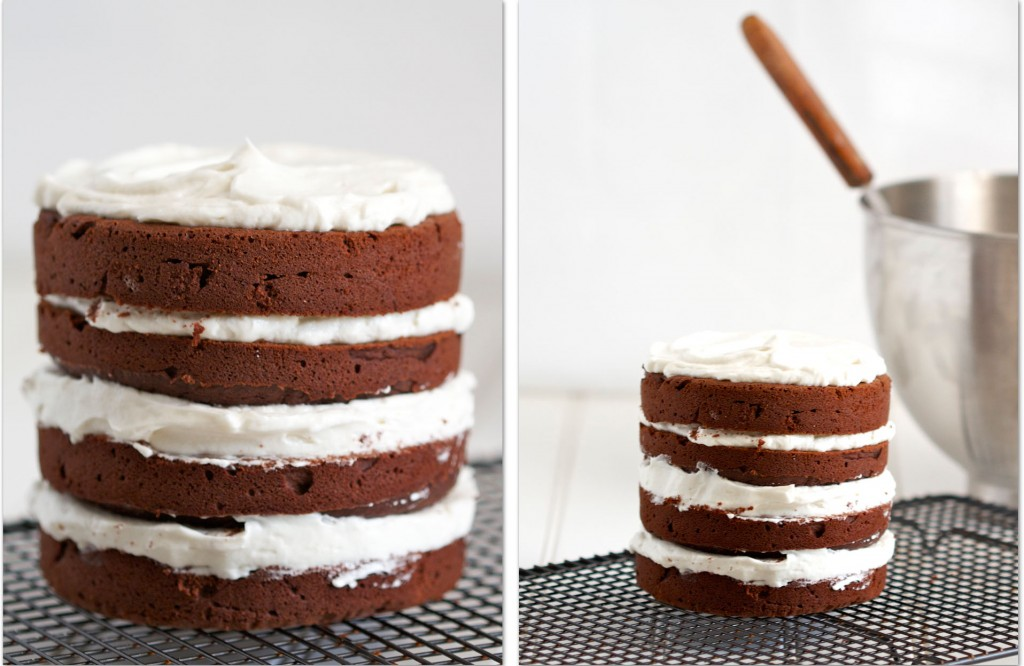 four-layer paleo chocolate cake