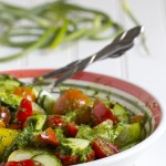 Paleo Spirit:: Heirloom tomato salad with Garlic Scape Dressing