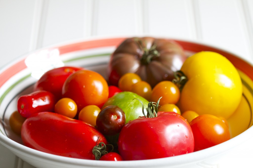 heirloom tomatoes bowl