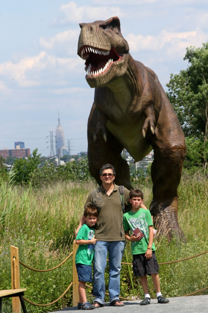 T-Rex with Empire State Building