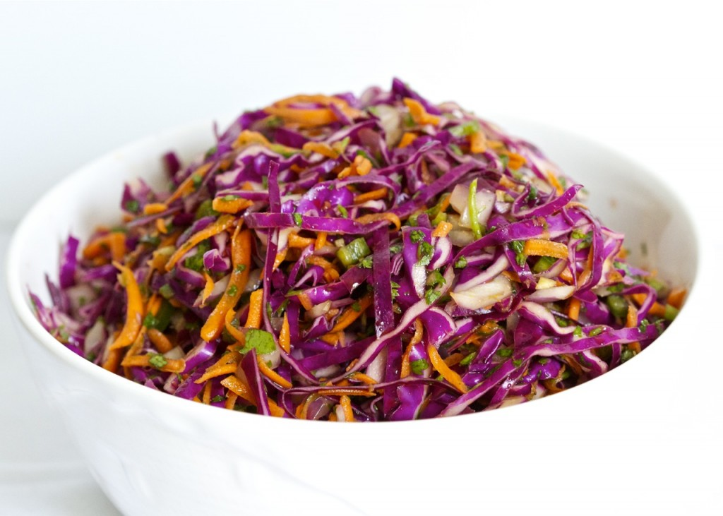 spicy cilantro lime slaw
