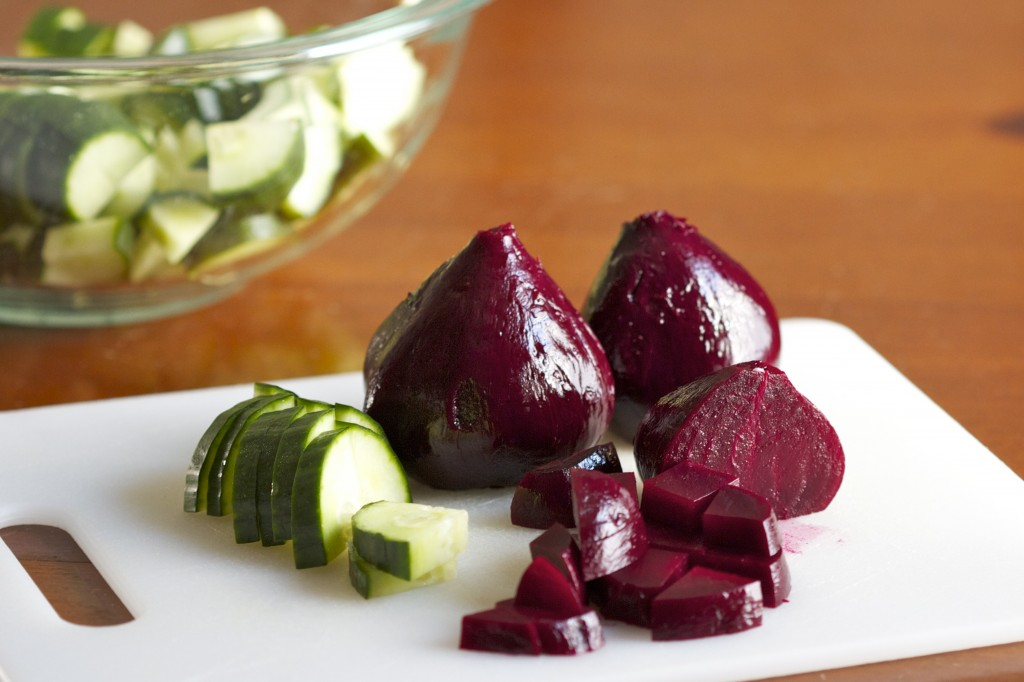 beets and cucumbers