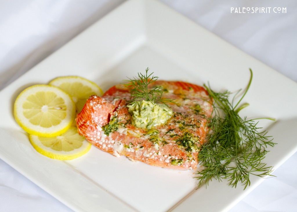 Wild Salmon with Lemon Dill Sauce
