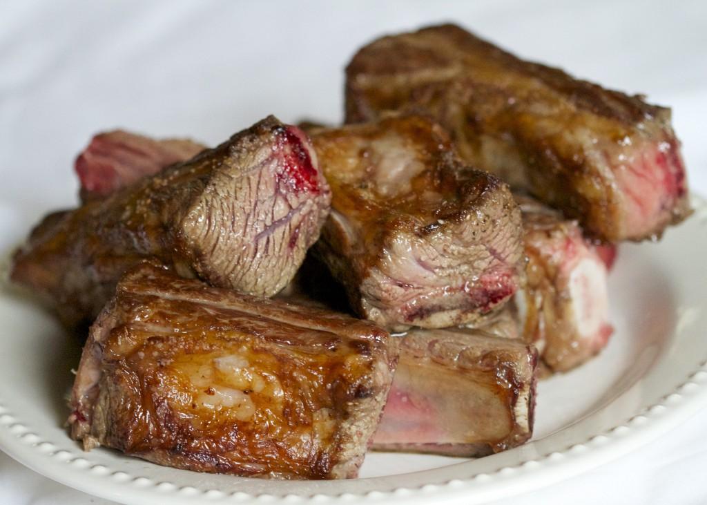 seared beef short ribs