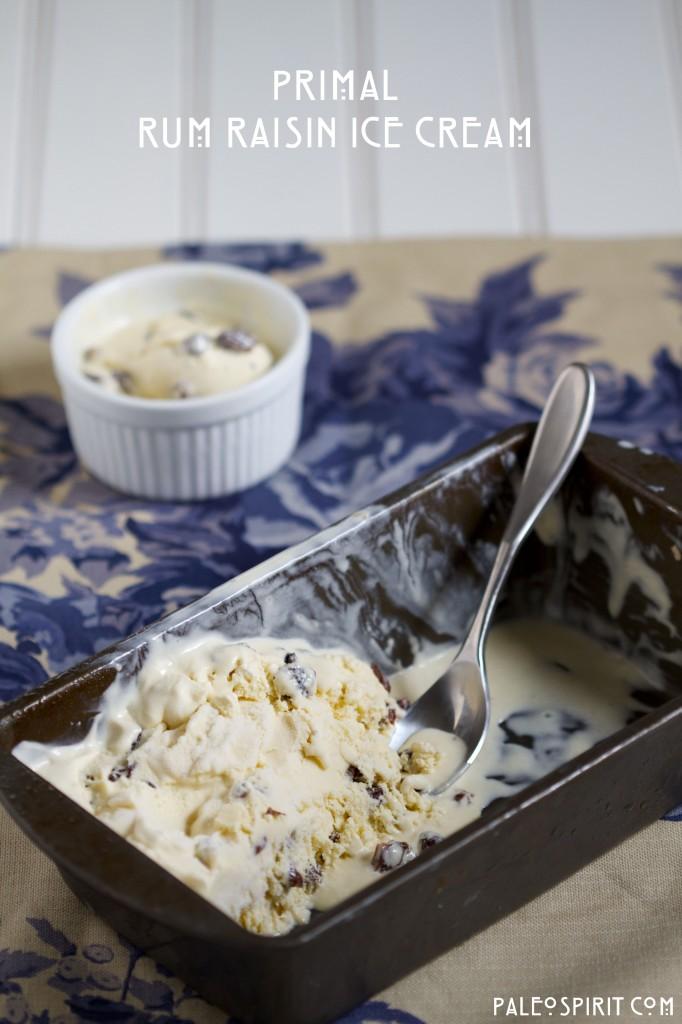 Primal Rum Raisin Ice Cream: PaleoSpirit