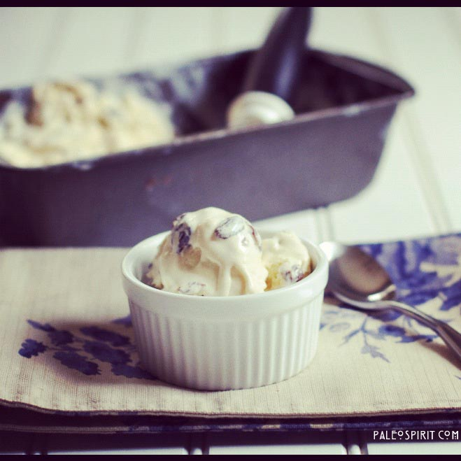 Primal Rum Raisin Ice Cream: PaleoSpirit