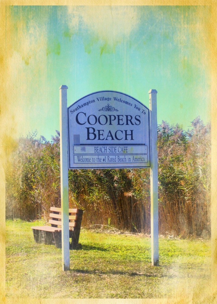 Coopers Beach Sign - Grunged