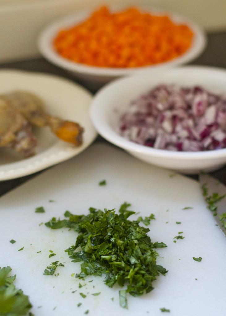 Duck confit sweet potato hash ingredients: Paleo Spirit