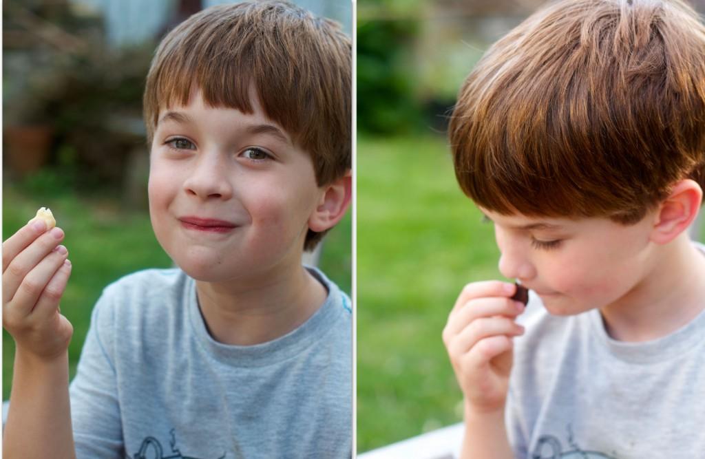 Nat eats fudge