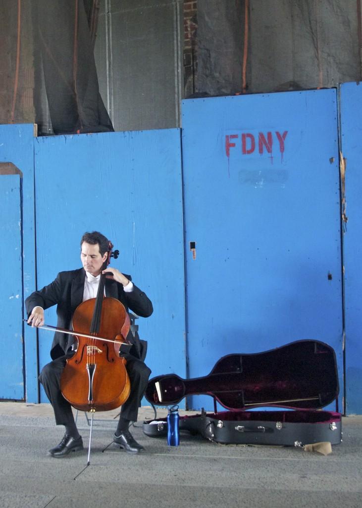 Cellist on The High Line: PaleoSpirit.com