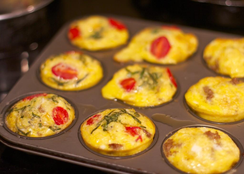 tomato basil paleo egg muffins