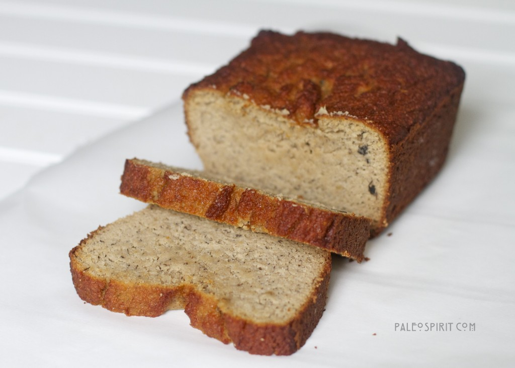 ... absolutely delicious paleo breakfast bread in handy paleo bread that