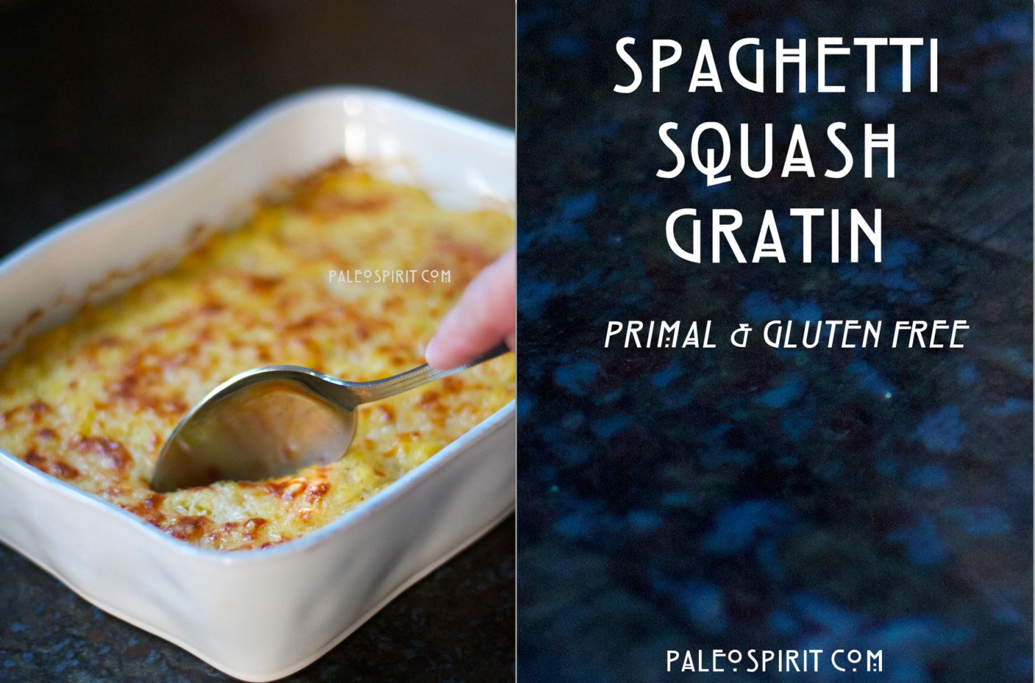 Warning! The recipe for Spaghetti Squash Gratin contains dairy ...