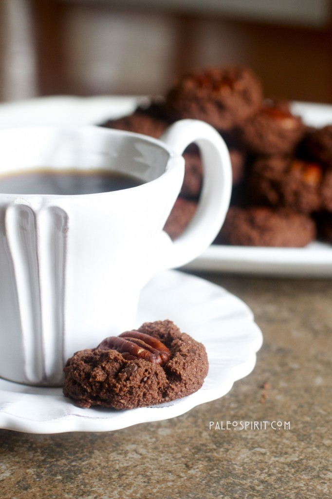 Double Chocolate Pecan Cookies (Paleo & Vegan) by @PaleoSpirit