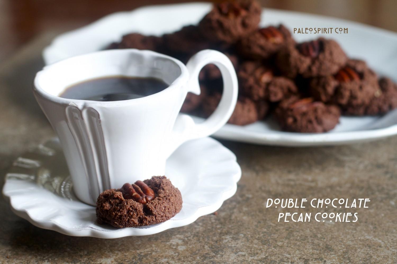 Double Chocolate Paleo Cookies:: PaleoSpirit.com