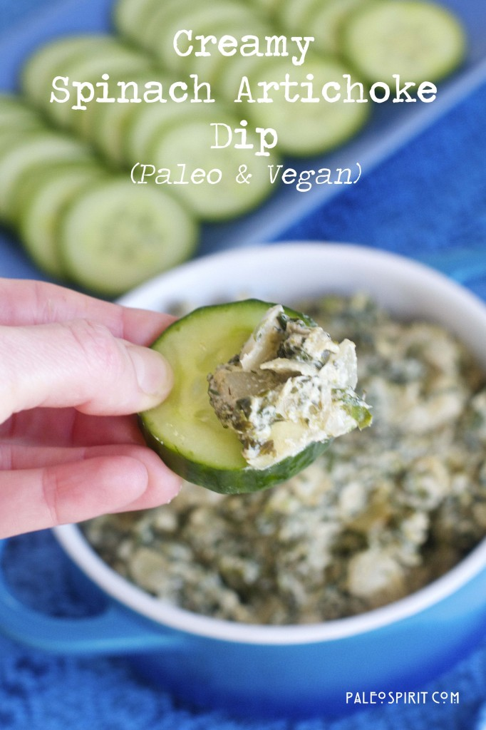 Creamy Spinach-Artichoke Dip: @paleospirit