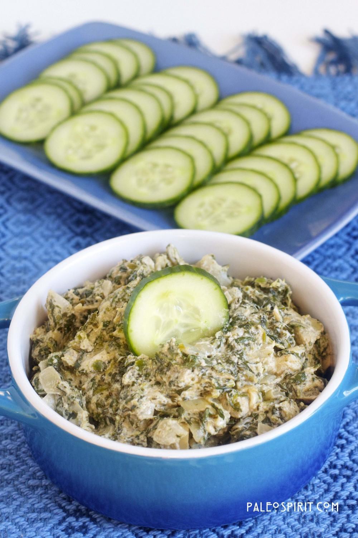 Creamy Spinach-Artichoke Dip: @paleospirit.com